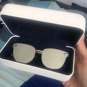 "Le Specs luxe silver ""pharoah"" sunglasses"